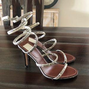 Dolce Vita Shoes - Dolce Vita Magnolia leather python wrap heels 6.5